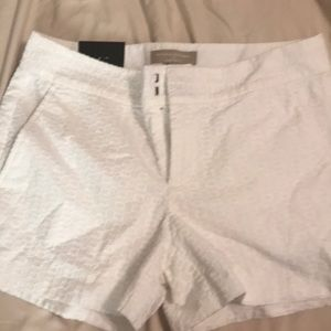 White shorts, size 2, new with tags